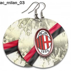 Kolczyki AC Milan 03