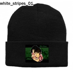 Czapka zimowa White Stripes 01