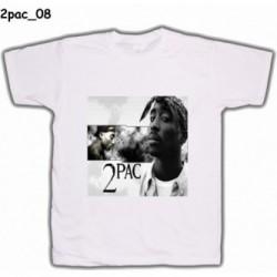 Koszulka 2pac 08 biała