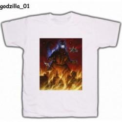 Koszulka Godzilla 01 biała