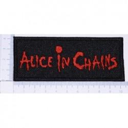 Naszywka haft Alice In Chains 01 red
