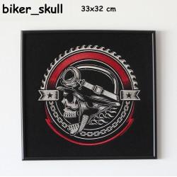 Obraz haftowany Biker Skull
