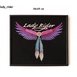 Obraz haftowany Lady Rider