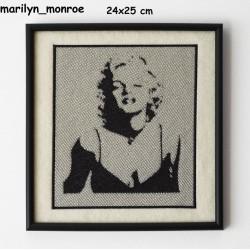 Obraz haftowany Marilyn Monroe