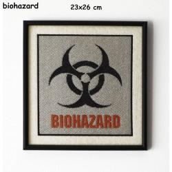 Obraz haftowany Biohazard